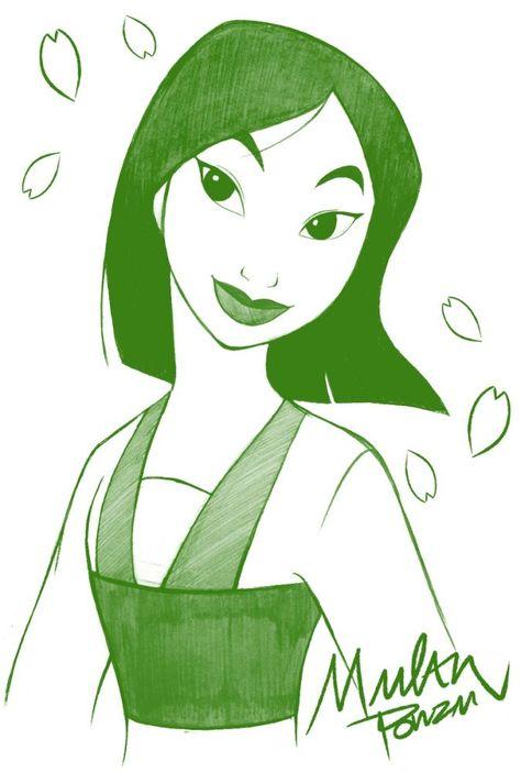 awesome Disney Tattoo - Одноцветные портреты Дисней Принцесс