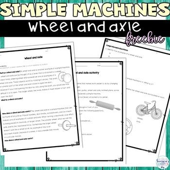 Simple Machines Wheel And Axle Nonfiction Packet And Demon Simple Machines High School Fun Teaching