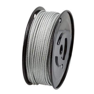 Everbilt 1 8 In X 500 Ft Galvanized Steel Uncoated Wire Rope 806340 Galvanized Steel Steel Wire