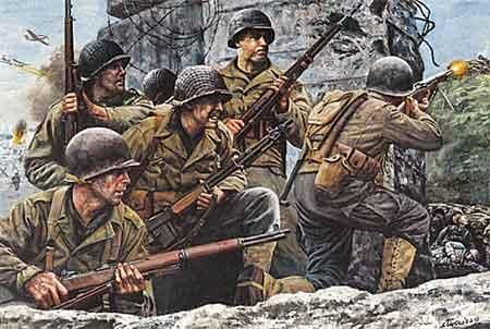 Infantry Division history during World War II in the western front - Normandy - The Big Red One - Cambridge Alert