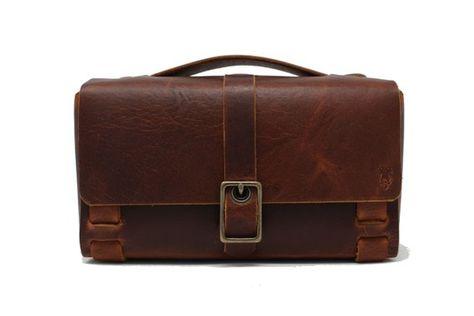 60e7ac131ee8 Leather Dopp Kit Bag