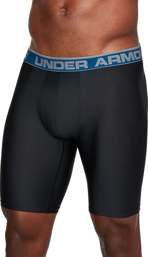 "Under Armour Men/'s 9/"" Underwear Original Boxerjock Briefs BLUE"