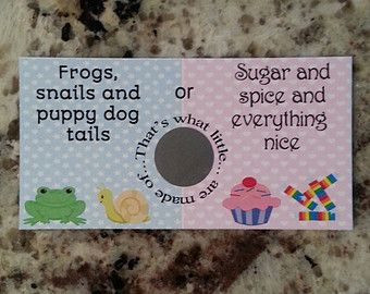 gender reveal scratch off on Etsy, a global handmade and vintage marketplace.