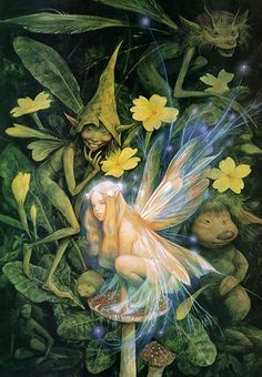 Brian Froud's strange and wonderful art. Now I want to go watch The Dark Crystal again. Brian Froud, Fantasy Creatures, Mythical Creatures, Fantasy Kunst, Fantasy Art, Dragons, The Dark Crystal, Fairy Art, Faeries