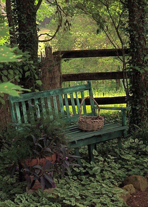 Epingle Par Marie Pierre Sur Banc Public Jardin D Ombre