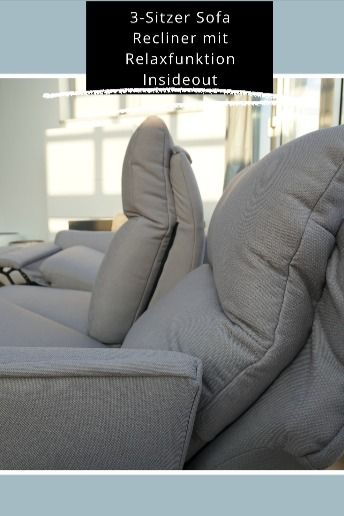 3 Sitzer Sofa Recliner Mit Relaxfunktion Insideout In 2020 3 Sitzer Sofa Fernsehsessel Sofa