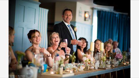 Annie & Carlo's wedding at Watergate Bay Hotel. Photography by Tyrone Mackenzie.