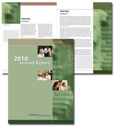 Free Annual Report Design Templates Graphic Design Portfolio at - free annual report templates