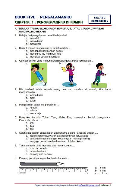 Kunci Jawaban Soal Tematik Kls 2 Sub Tema Hidup Rukun