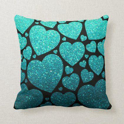 Modern Elegant Glitter Hearts Pattern Summer Beach Throw Pillow Zazzle Com Beach Throw Pillows Throw Pillows Throw Pillow Pattern