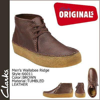 Orgulloso becerro Tratar  Clarks Originals Mens ** X WALLABEES RIDGE ** Brown Lea ** UK 7,8,8.5,9,10,11  G | eBay | Clarks shoes mens, Mens brown leather boots, Clarks originals men