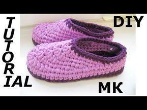 Youtube тапки тапочки носочки Crochet Slippers Crochet Shoes