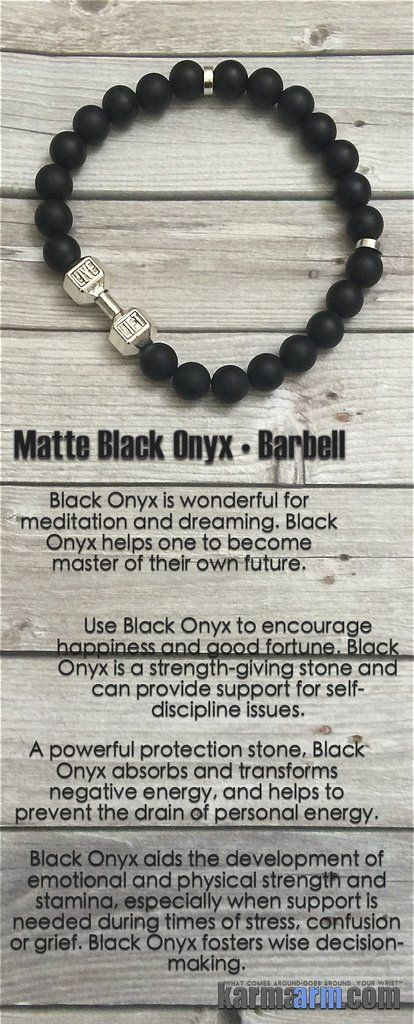Fleur de Lis Charm Necklace Base Chakra Stones Matte Black Onyx Healing Gemstone