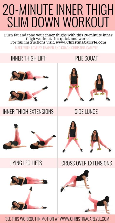20 Minute Inner Thigh Slim Down Workout
