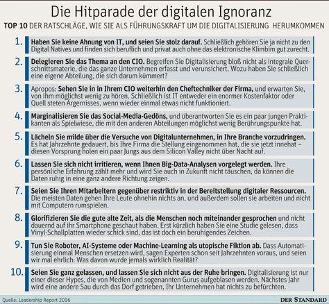 Top 10 der Ratschläge, wie Führungskräfte die Digitalisierung in den Griff bekommen. ;) - Blogomotive « Blogomotive