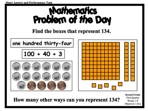 Download a series of Problem of the Day resources for Grade 2. FIles come in web, PPT, and PDF formats. Organized by quarter, you'll find a wealth of problems here!
