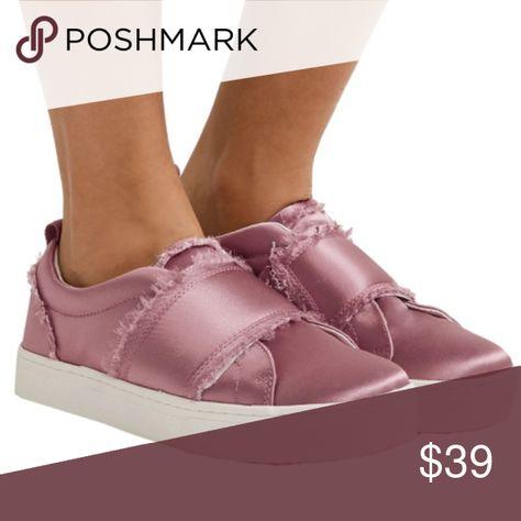 c680c7cca2c21 Sam Edelman pearl pink Levine Satin sneakers Beautiful platform style  sneaker from Sam Edelman. Pearl Pink shiny satin upper