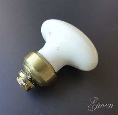 Ancien bouton , poignée de porte en porcelaine noire xix° Poignees