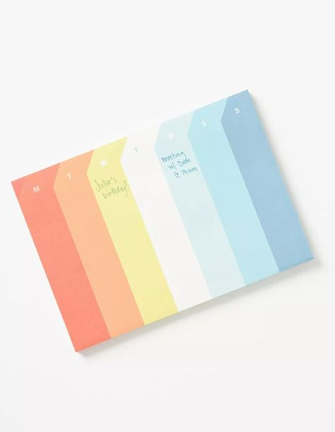 With a column for each day of the week, this colorful deskpad helps you stay on track with meetings, to-dos, and weekend plans. From Anthropologie