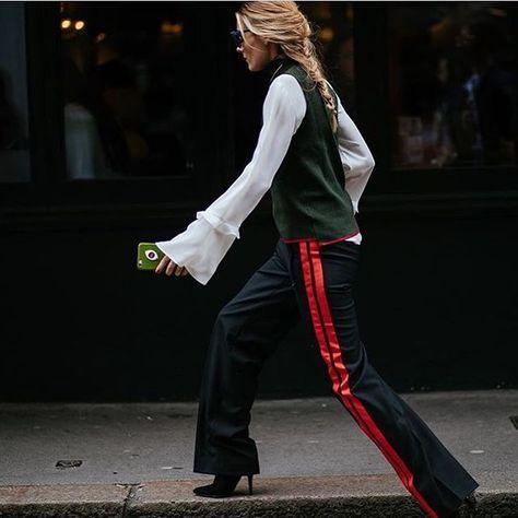 Always a favourite over fashion week😍 #OliviaPalermo #streetstyle #LFW