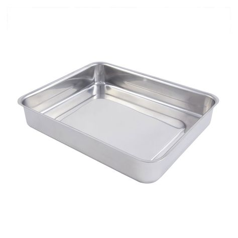 3 Qt 11 5 8 X 9 3 8 X 2 1 8 Inch Cucina Stainless Steel Small Food Pan Without Handle Case Of 3 Small Meals Stainless Steel Cucina