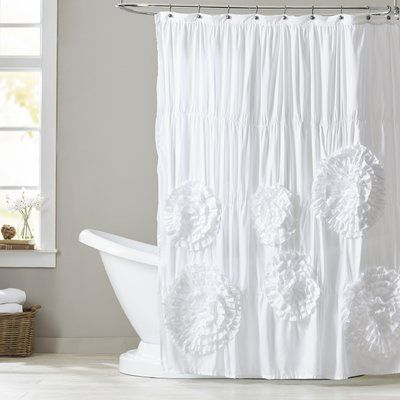 Lark Manor Oropeza Solid Single Shower Curtain Wayfair White