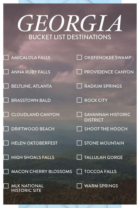 15 Best Weekend Trips from Atlanta Georgia #Atlanta #Georgia #Trips #Weekend