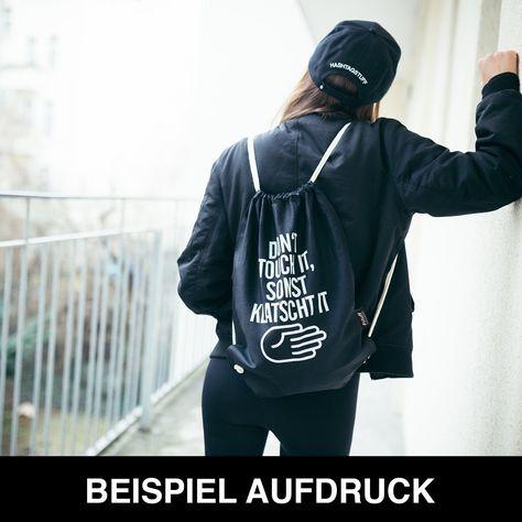 """Baumwoll Turnbeutel mit Spruch Motiv /"""" Einhorn Glitzer /"""" Tasche Gym Bag"""