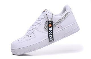 Mens Womens Shoes Nike Air Force 1 07 Just Do It Pack White Black
