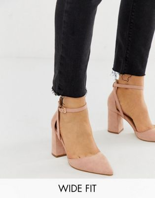 9903fd892e7 RAID Wide Fit Katy blush heeled shoes in 2019 | Shoooes | Blush ...