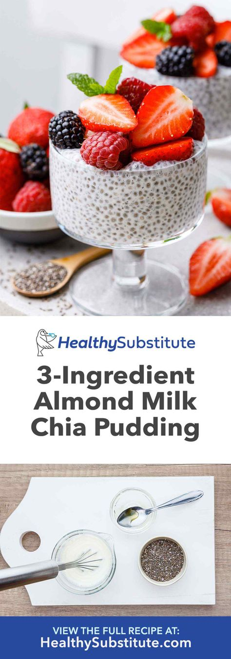 Easy 3 ingredient chia seed pudding with almond milk healthy substitute the best chia seed pudding with 4 different delicious flavors chia delicious chia delicious flavorschia pudding seed Chai Seed Pudding, Chia Pudding Almond Milk, Chocolate Chia Seed Pudding, Vanilla Chia Pudding, Chia Seed Pudding Healthy, Chia Seed Almond Milk, Chia Pudding Ratio, Chia Seed Pudding Recipe, Chia Seed Recipes Easy