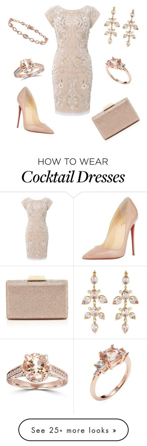 """""""At the Ballet"""" by nmccullough on Polyvore featuring Aidan Mattox, Christian Louboutin, Sasha, Bliss Diamond, Rina Limor, women's clothing, women, female, woman and misses"""