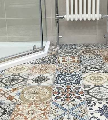 Vintage Tiles Patterned Tiles Uk Tiles Kitchen Floor Tile Patterns Patterned Bathroom Tiles Bathroom Tile Inspiration