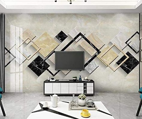 Wall Mural 3d Abstract Geometric Marble Minimalism Custom Wallpaper 3d Effect Large Mural Wall Murals Home Decor In 2020 Home Decor Custom Wallpaper Large Mural