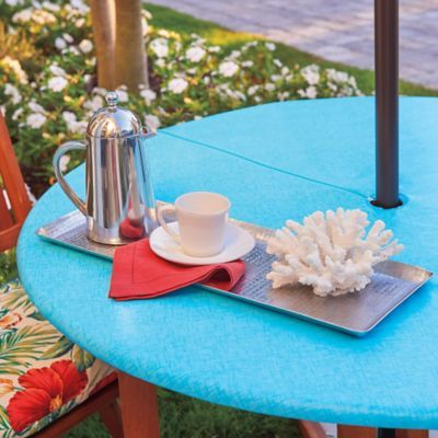 Dress Up Your Umbrella Table With Our Elasticized Zippered Vinyl Table Cover This Patio Table Cover With Zi Vinyl Table Covers Coffee Table Cover Table Covers