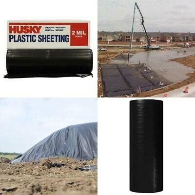 Sponsored Ebay Husky 10 Ft X 100 Ft Black 2 Mil Plastic Polyethethylene Sheeting Construction With Images Plastic Sheets