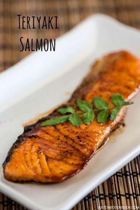 Teriyaki Salmon 鮭の照り焼き   Easy Japanese Recipes at JustOneCookbook.com
