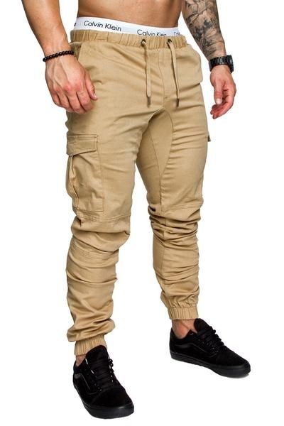 Men Work Cargo Long Pants 2019 New Waterproof Men Military Pants with Pockets Loose Trousers
