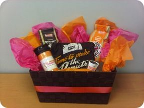 here s a gift basket for the hard dunkin donuts fan gifts doughnut and fans