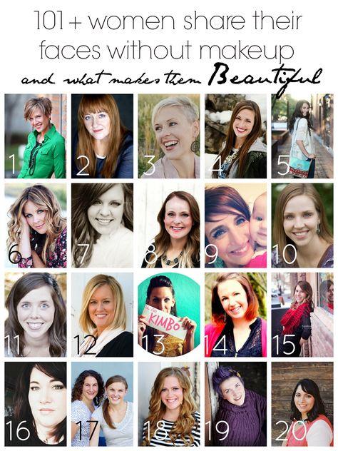 women sharing their natural beauty - no makeup - brassyapple.com #iambraveandbeautiful #colbietry
