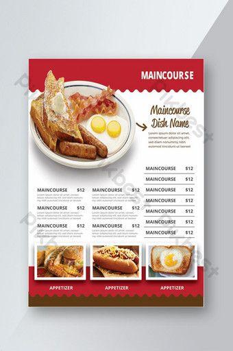Fast Food Menu Ai Free Download Pikbest Fast Food Menu Food Menu Food Menu Design