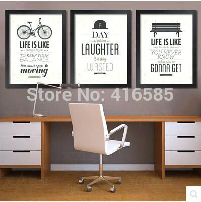 Wall Art Inspirational Quotes Framed