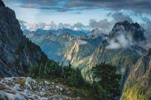 Landscape Nature Mountain Sunset Clouds Forest Washington State Trees Summer Cliff Wallpaper Mountain Wallpaper Nature Nature Wallpaper
