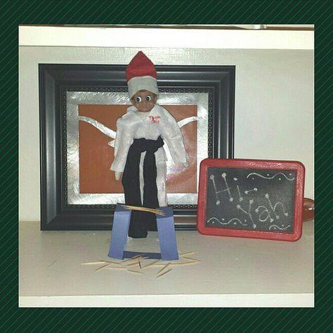 Hi-Ya! karate Elf on the Shelf