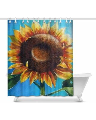 Sunflower Shower Curtains Sunflower Bathroom Decor