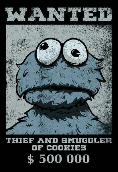 Cookie Monster Wanted Poster Cookie Monster Drawing Monster Cookies Cookie Monster Wallpaper