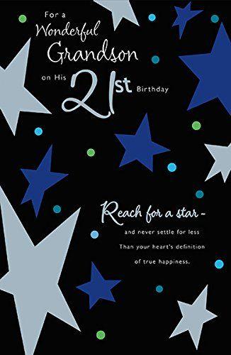 Grandson 21st Birthday Card Greeting Card Https Www Amazon Co Uk Dp B01c7dxgcg Ref Cm Sw R 21st Birthday Cards Birthday Cards For Him Birthday Greeting Cards