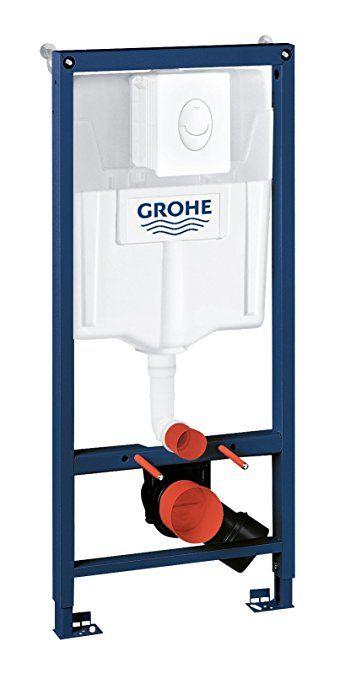 Grohe Rapid Sl Ensemble 3 En 1 Pour Wc Suspendu 1 13 M Supports Muraux Et Plaque De Chasse D Eau Skate Air Blanc Alpin Toilet Accessories Toilet Kitchen Mixer Taps