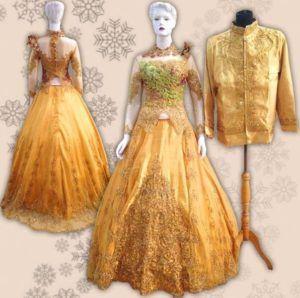 Baju Pengantin Warna Gold
