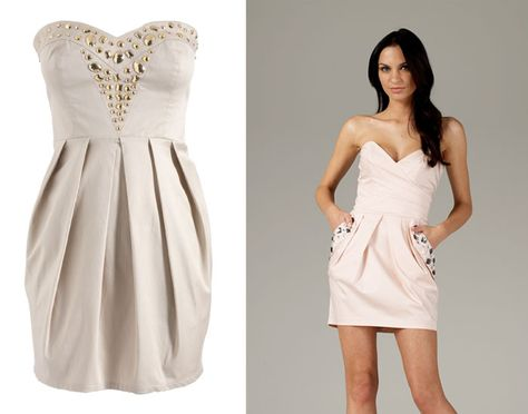 Yes adorable! For pear shape bodies - Beaded Pleat Skirt Dress & Strapless Jewelled Pocket Dress